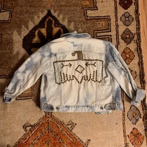 One of kind vintage studded Thunderbird jacket